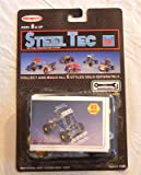 """Steel Tec Construction System #SK """"ATV W/Spring Suspension"""" Antique Toy Set - Remco 1992 - Factory-Sealed Unused - Instructions Included - 83 Parts!"""