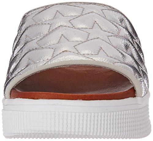MIA Women's Journee Platform Slide Sandal Silver EWhdiSX