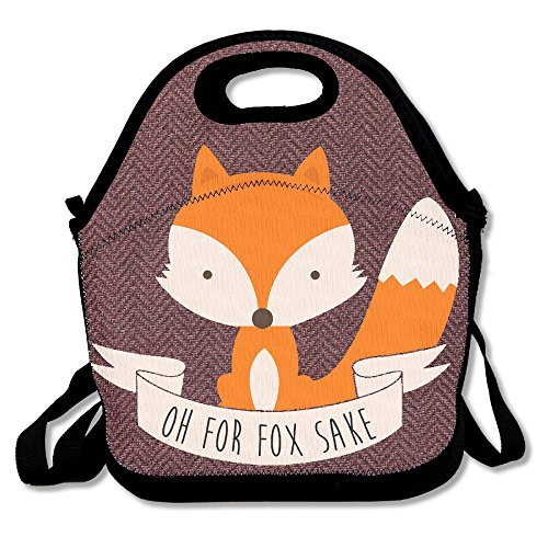 Hoeless Oh For Fox Sake Insulated Lunch Backpack With Zipper,Carry Handle And Shoulder Strap For Adults Or Kids - Scottsdale Malls
