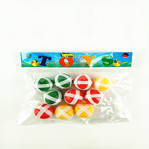 (suzakoo 10PCS Balls Dartboard Darts Balls one Set Sticky Balls Entertainment Game)