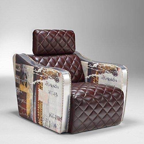 Lazzaro Leather WH C1518 9012G/90 Barnes Decoupage Arm Chair