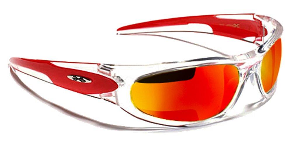 X-Loop Lunettes de Soleil - Sport - Cyclisme - Ski - Tennis - Moto - Plage / Mod. 012P Rouge Diesel Iridium LuOxKchL4