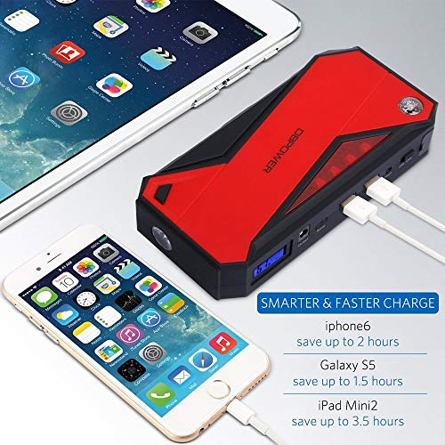DBPOWER 18000mAh Portable Car Starter Battery Booster and Charger with