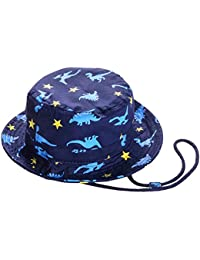 Baby Sun Hat with Chin Strap - Unisex Toddler Summer Play Reversible Bucket  Hat UPF 50 08860707ba66