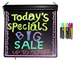 LED Message Writing Board - Frameless 19'' x 24'' and 8 Color Pens