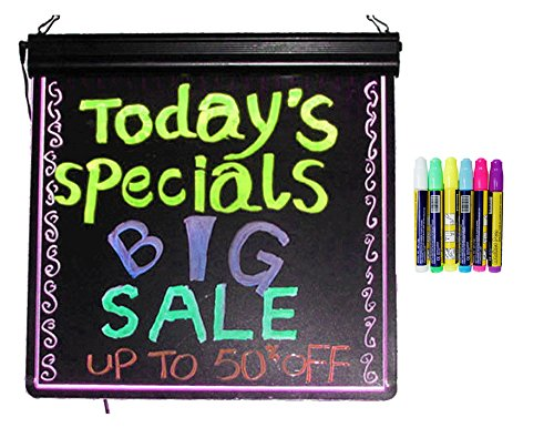LED Message Writing Board - Frameless 24'' x 32'' and 8 Color Pens by American Sign Letters