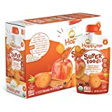 Happy Tot Organic Stage 4 Super Foods, Apples, Sweet Potatoes, Carrots & Cinnamon + Super Chia, 4.22 Ounce (Pack of 8)