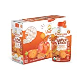 Happy Tot Organic Super Foods, Apples, Sweet Potatoes, Carrots & Cinnamon + Super Chia, 4.22 Ounce (Pack of 16)
