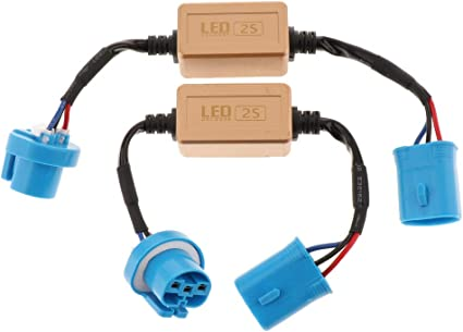2X 9004 9007 HID LED Kit Error Free Load Resistor Decoders harness Adapter
