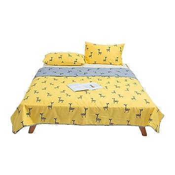 Amazon.com: AMY - Colcha fina de algodón amarillo, aire ...