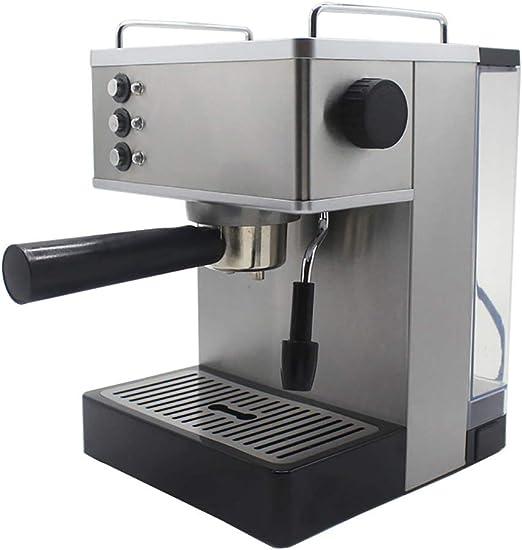 WXH Cafetera Italiana 1050W De Potencia Presión 19Bar Hueco De Acero Inoxidable De Café Capuchino Sistema De 2.2L Mando del Vapor En El Tanque De Agua De Gran Capacidad para Los Negocios/Familia: