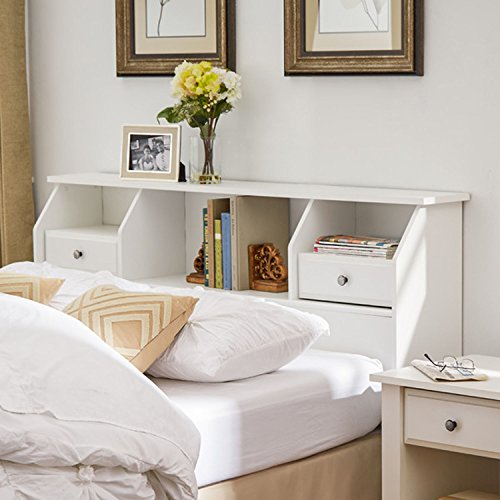 Full Bookcase Headboard Bed - 7