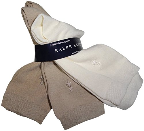 Lauren Ralph Lauren Rl Sport Trouser Sock 3 Pair Pack (7125) (Ivory Tan Camel)