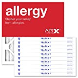 AIRx Filters Allergy 14x14x1 Air Filter MERV 11 AC Furnace Pleated Air Filter Replacement Box of 12, Made in the USA