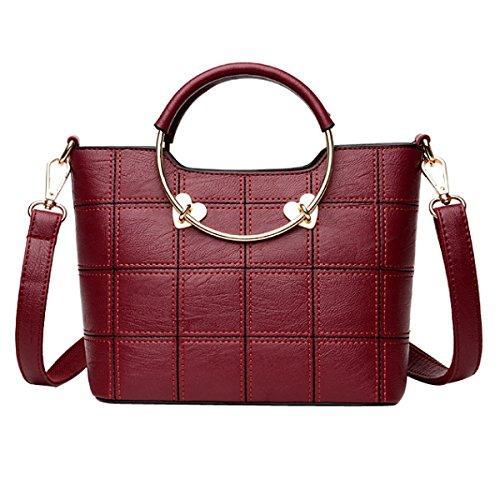 Messenger Bag Della Borsa Della Spalla Delle Donne,Redwine-OneSize