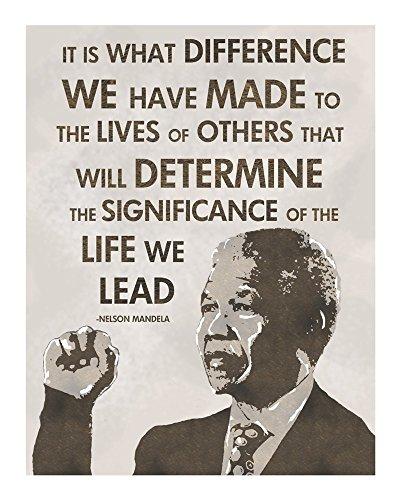 The Life We Lead - Nelson Mandela by Veruca Salt Art Print, 13 x 16 - We Nelson