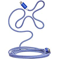 CENNBIE Apple MFi Certified Lightning to USB Cable 10ft/3m iPhone Charger Cord Super Long for iPhone 7 / 7 Plus / 6S / 6S Plus / 6 / 6 Plus / SE / 5S / 5, iPad Pro / Air / Mini(Blue and White)