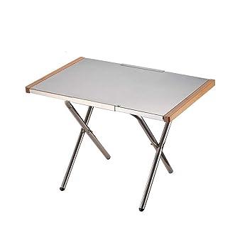 Mesa plegable Mesa portátil de Acero pequeño Mesa de Picnic al ...