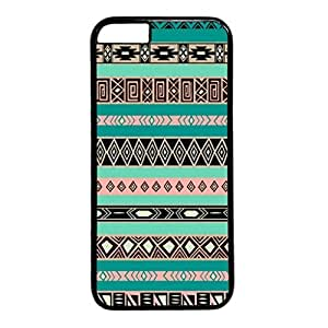 iPhone 5C Case, iCustomonline Aztec Tribal Pattern Art Print Designs Soft TPU Case Cover for iPhone 5C Black