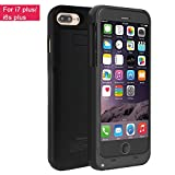 iPhone 7 Plus Battery Case,Vproof 4000mAh External Battery Backup Charger Case Pack Power Bank for iPhone 7 Plus/iPhone 6s Plus 5.5 inch (Black)