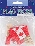 Canadian Flag Picks 50/Pkg-2.75""