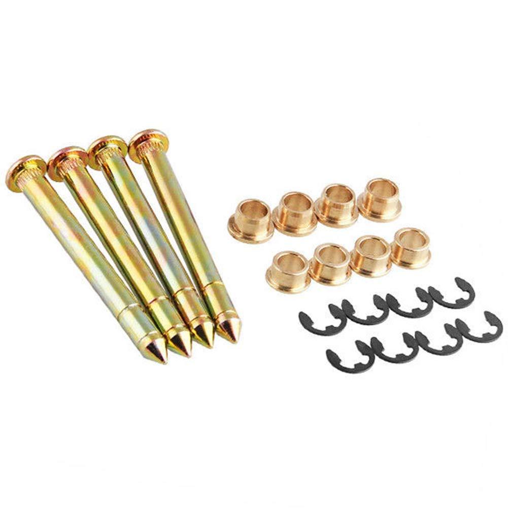 JEM&JULES Door Hinge Pins and Pin Bushing Repair Kit for Ford F150 F250 F350 Bronco SUV