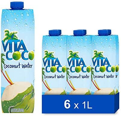 Vita Coco Coconut Water, Pure Original   Naturally Hydrating Electrolyte Drink   Smart Alternative to Coffee, Soda, and Sports Drinks   Gluten Free   33.8 Ounce (Pack of 6)
