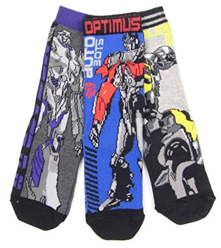 Boys Transformers Socks 3 Pairs 9-12 12-3.5 and 4-6.5 Ex Store Quality Item…… (12.5-3.5)