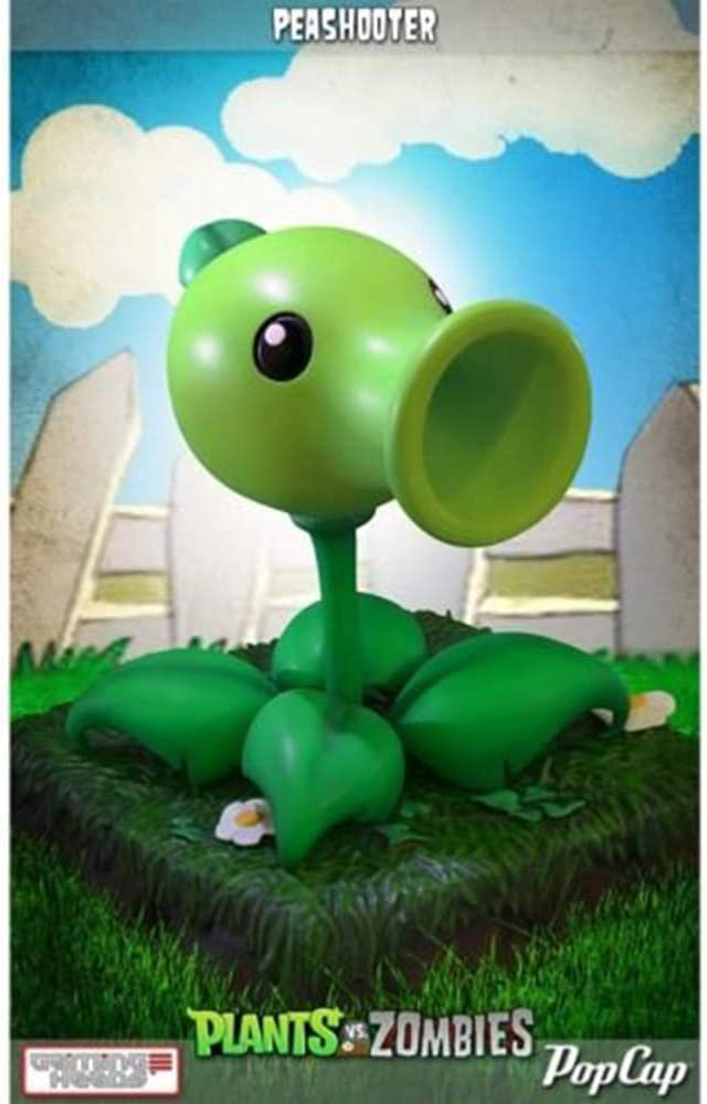 "Gaming Heads Plants Vs. Zombies Peashooter 9"" Statue"