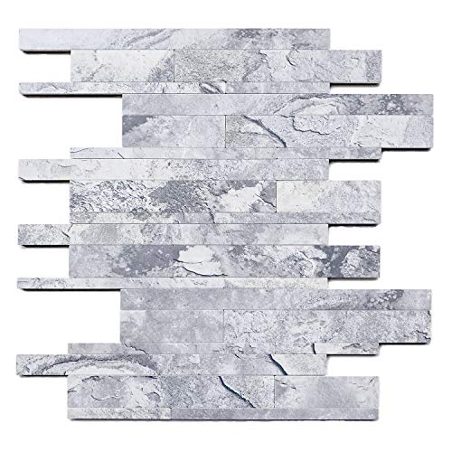 HomeyStyle Subway Peel and Stick Tile Backsplash for Kitchen Wall Decor Marble Look and Wood Appearance Mosaic Tiles,Hard/Thick/Durable/Beautiful(11