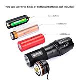 CrazyFire Zoomable LED Torch,1000 Lumen 5 Mode Portable Flashlight,Led Pocket Torch Lamp for Hiking Traveling Camping (White Beam) Bild 4