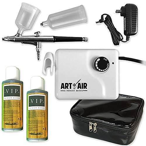 Art of Air Professional Sunless Tanning Airbrush System Includes 2 Bottles of Airbrush Tanning Solution Light/Medium - SeriesA