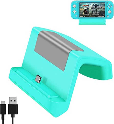 Shumeifang Switch Dock, Base de Carga Mini Portátil para Nintendo Switch & Switch Lite, Puerto de Carga USB Tipo C, Compacto Reemplazo Muelle de Carga para Nintendo Switch/Switch Lite- Verde: Amazon.es: Videojuegos