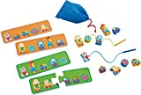 Best HABA Board Games Kids - HABA Wooden Threading Game Favorite Toys - Patterning Review