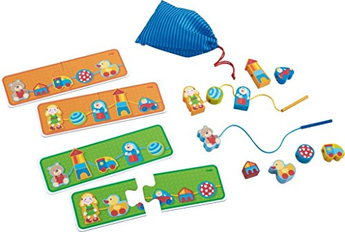HABA Wooden Threading Game Favorite Toys - Patterning, Se...