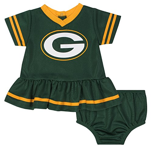 672c334b9 Gerber Childrenswear NFL Bay Packers Girls 2018Dazzle Dress & Panty, Green,  18 Months