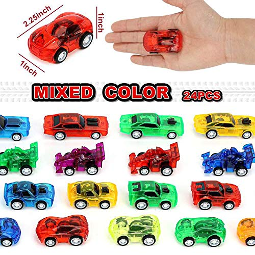 3 otters Pull Back Car, 24PCS Mini Toy Cars Party Favors Stocking Stuffers Mini Car Toys for Boys