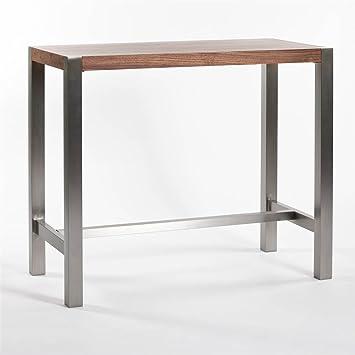 High Quality Riva Bar Table In Walnut