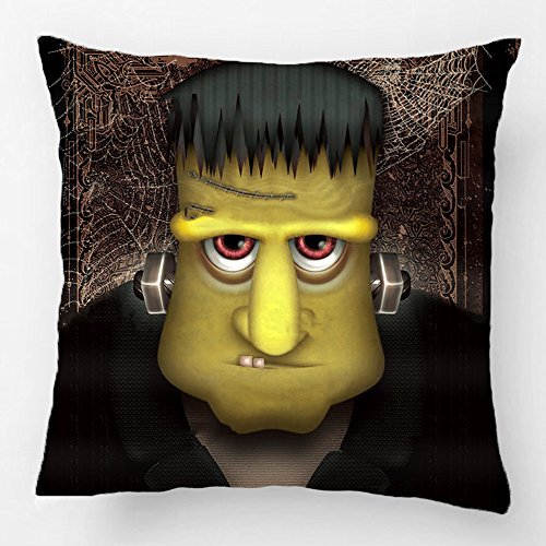 ALEX Throw Pillow Case Decorative Cushion Cover Cotton Polyester Sofa Chair Seat Square Pillowcase Design With Funny Frankenstein Halloween Costume Custom Personalized Pillow Cover Sized 20X20 (Dallas Cowboy Toddler Halloween Costume)