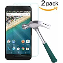 TANTEK 9H Tempered Glass Screen Protector for LG Nexus 5X, 2 Pack