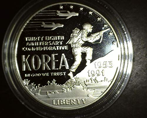 1991 P Korean War Memorial Silver Dollar PROOF $1 PROOF US - Obverse Like Proof