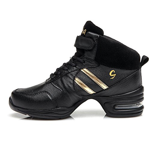 Dance Women's Gold YKXLM Sneakers B51 Black Model Ballroom and Sports Sneaker Modern Shoes Performance Boost Men A Jazz Dance qqpwrEvUP