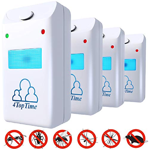 Ultrasonic Pest Repeller repellent indoor pest control devices get rid of rats mice ants roaches mosquitoes insects flea spiders ()