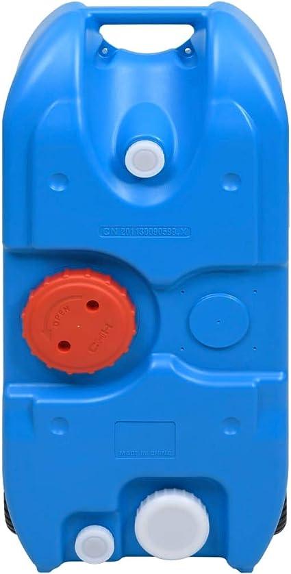 Picnic 40 L Azul Acampar Lechnical Tanque de Agua de Camping con Rodillos Agua Potable Bote de Agua Dep/ósito de Agua para Hacer Senderismo