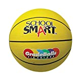 School Smart Gradeballs Rubber Basketball - Mini 11 inch - Yellow