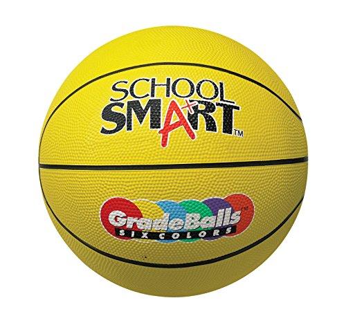 School Smart Gradeballs Rubber Basketball - Women's / Intermediate 28 1/2 inch - Yellow