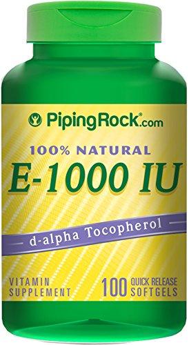 Piping Rock 100% Natural Vitamin E-1000 IU 100 Quick Rele...