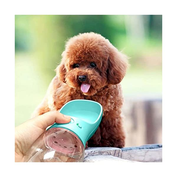 MalsiPree Dog Water Bottle, Leak Proof Portable Puppy Water Dispenser with Drinking Feeder for Pets Outdoor Walking, Hiking, Travel, BPA Free Food Grade Plastic 4
