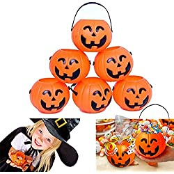 Pumpkin Candy Holder 12 Mini Trick-or-treat Halloween Candy Bucket