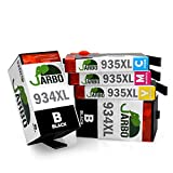 JARBO Replacement for HP 934XL 935XL Ink Cartridge 1 Set+1 Black 5 Packs Used in HP OfficeJet Pro 6830 6820 6230 6812 6815 6835 Printer